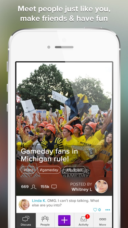 College Gameday Sports Chat and Fan Community screenshot-4