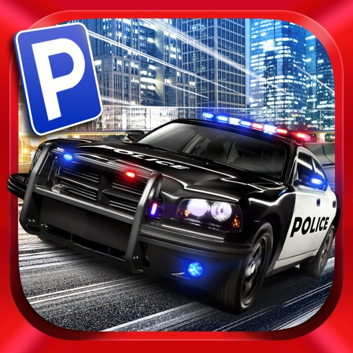 Action Police Car Parking Simulator 3D - Real Test Driving Game