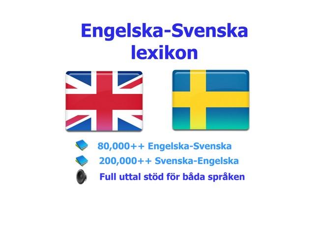 dictionary svenska engelska