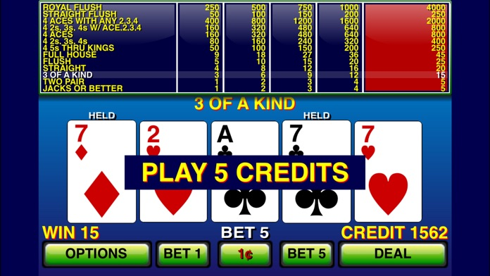 Video Poker ⋆ Screenshot