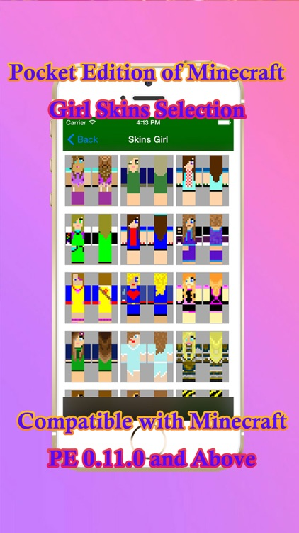 Girl Skins PE for Pocket Edition of Minecraft