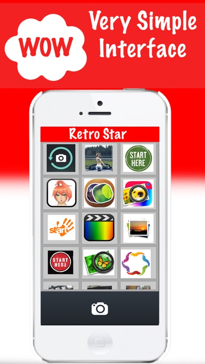 Retro Star Photo Editor - vintage camera for painting sketch effects + stickers