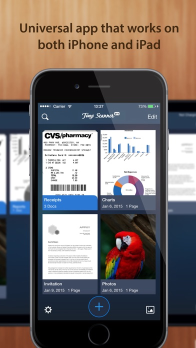 Tiny Scanner - PDF scanner to scan document, receipt & fax app image