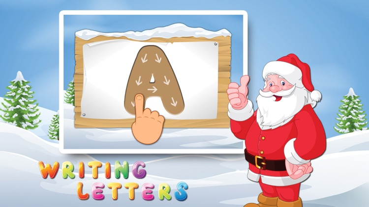 Letters with Santa Free - Kids Learn Alphabet and Letters screenshot-3