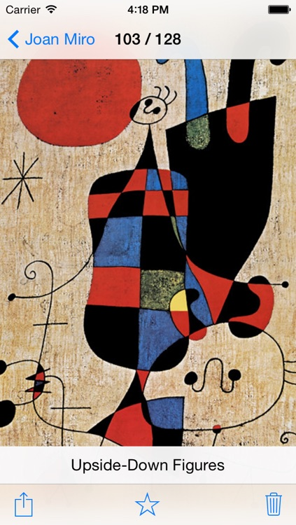Joan Miró 128 Paintings HD Ad-free (Joan Miro) screenshot-3