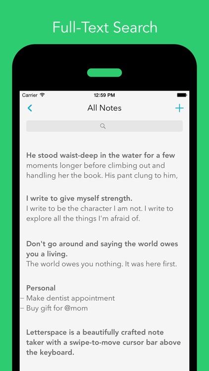 Letterspace – Swipe. Edit. Note. screenshot-3