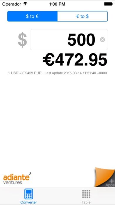 Euro to Dollar PREMIUM Screenshot
