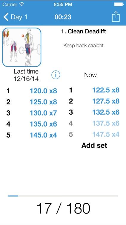 iGym FREE - Gym Workout Log  Exercise journal, bodybuilding