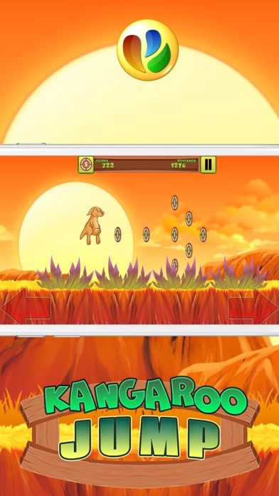 Kangaroo Jump and Run Spiel - Kangaroo Jump and Run GameScreenshot von 3