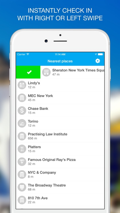 FastIn - fast check-in for Foursquare screenshot-1