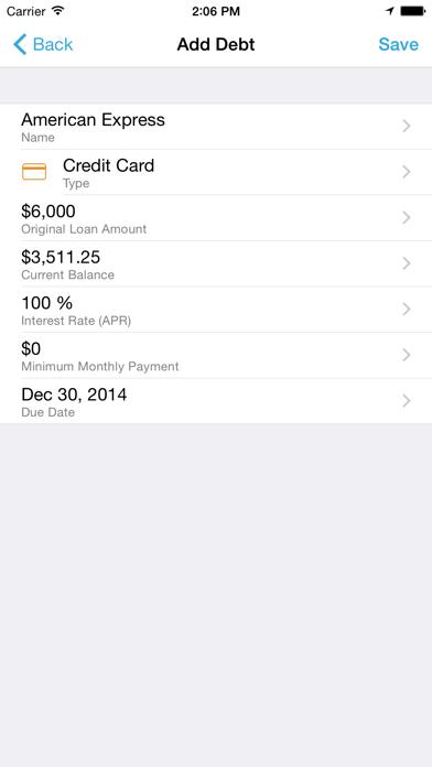 Debt Strategy Lite screenshot three