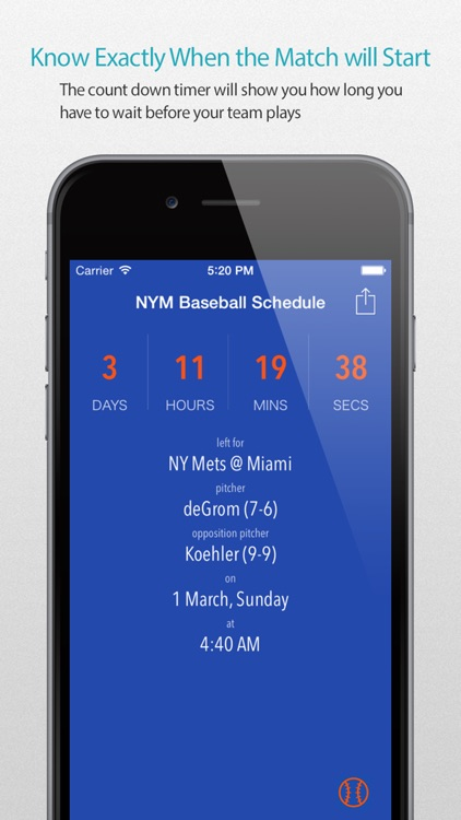 NYM Baseball Schedule Pro — News, live commentary, standings and more for your team!