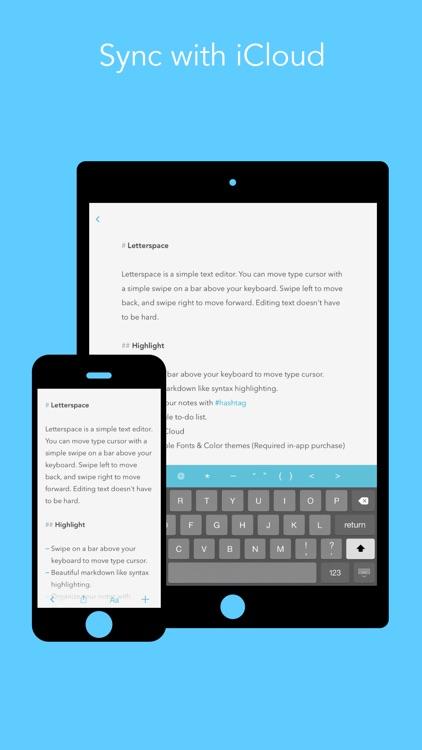 Letterspace – Swipe. Edit. Note. screenshot-4
