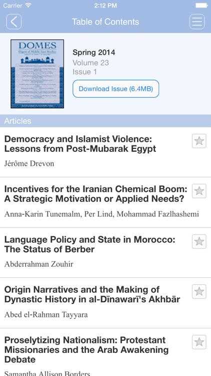 Digest of Middle East Studies