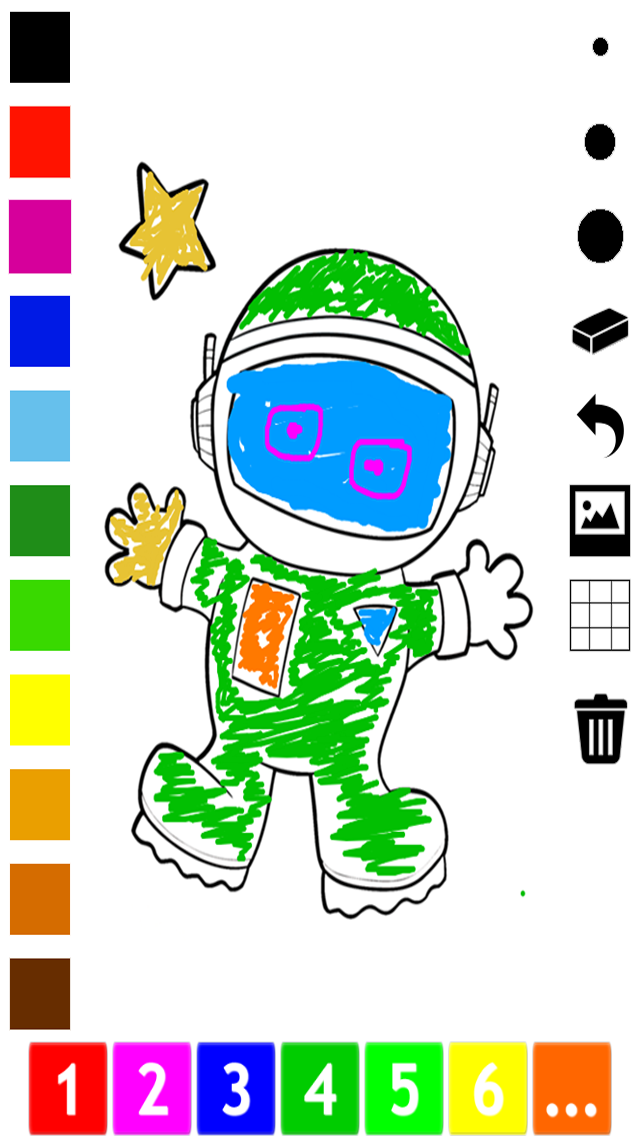 An Outer Space Coloring Book for Children: Learn to color astronaut, alien and ufo screenshot one