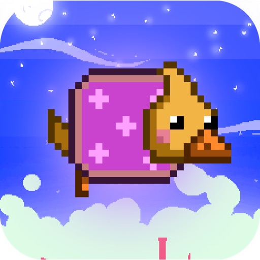 Flying Rainbow Dog & Bird - Fun Free Easy Physics Tap Jump 8-Bit Pixel Adventure For Kids