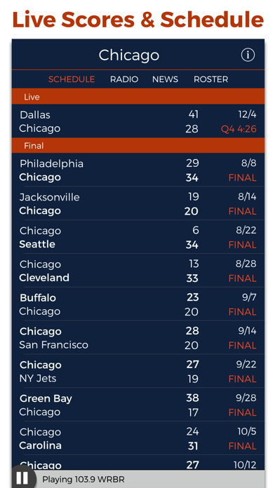 Chicago Football Radio & Live Scores screenshot three