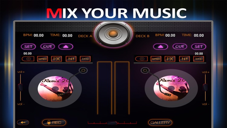 iRemix 2.0 Pro - Portable DJ Music Mixer Remix Tool screenshot-1