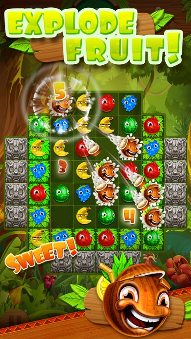 Jungle Jam - Juicy Fruit Match-3 Game screenshot two