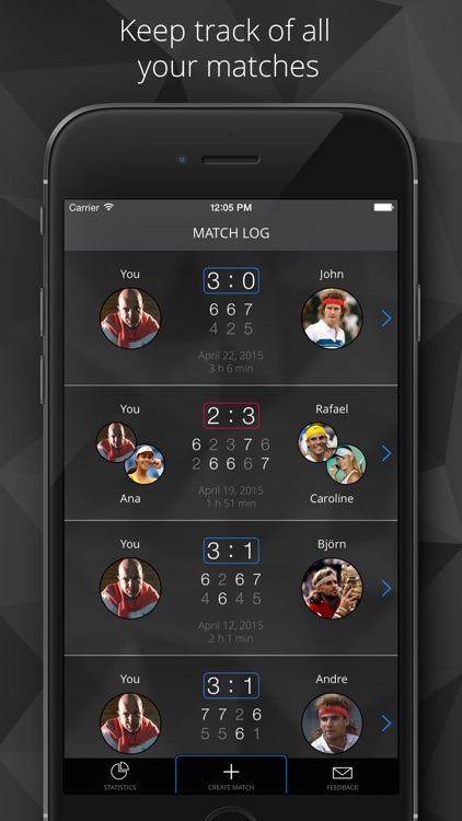 Tennis Watch - Tennis score tracker and statistics for Apple Watch and iPhone screenshot-0