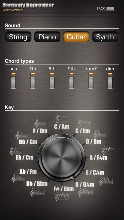 Harmony Improviser - harmonic composition tool and chord progression helper
