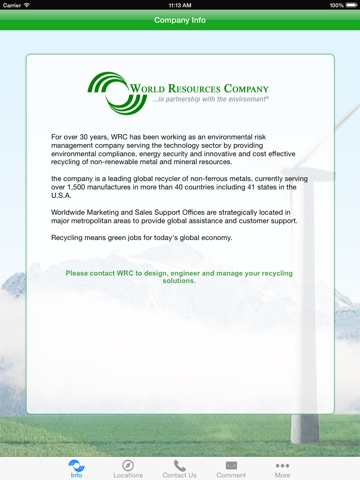 Screenshot of World Resources Company