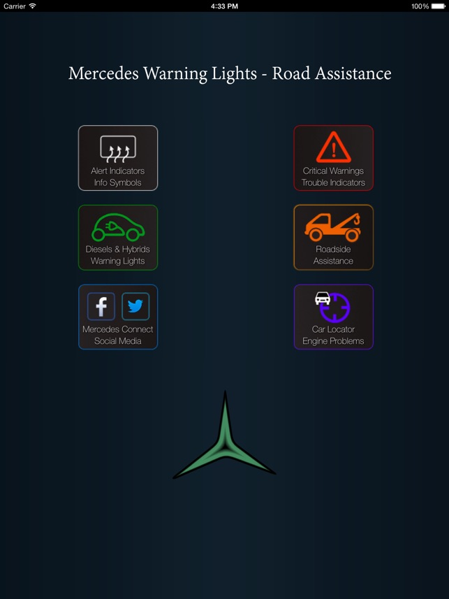 App For Mercedes Cars Mercedes Warning Lights Road Assistance