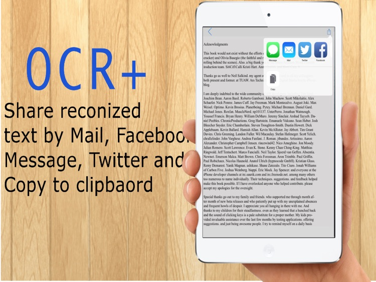 OCR+ - Image to text converter, PDF documents to text
