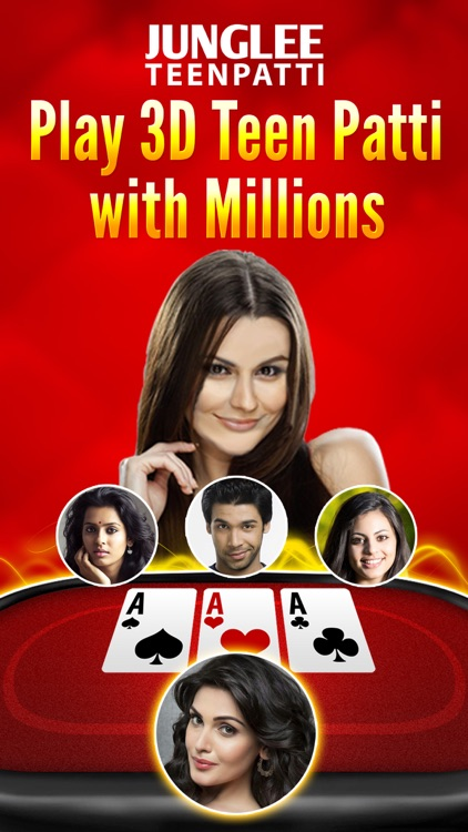 Junglee Teen Patti 3D screenshot-0