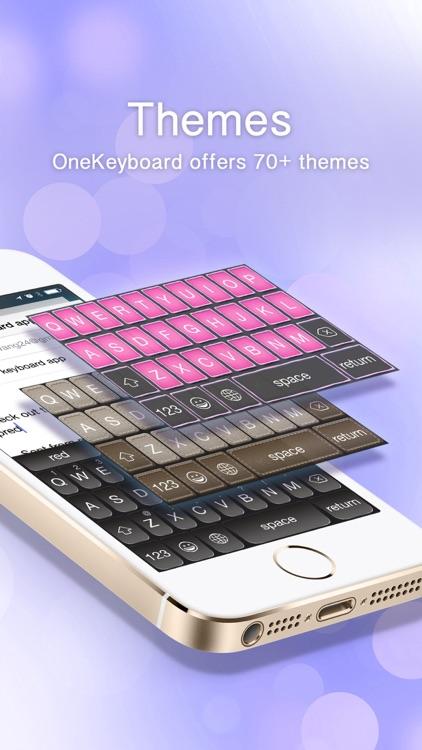 OneKeyboard Pro: colorful, predictive custom keyboard with autocorrect