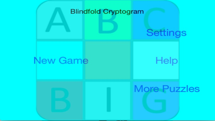 Blindfold Cryptogram