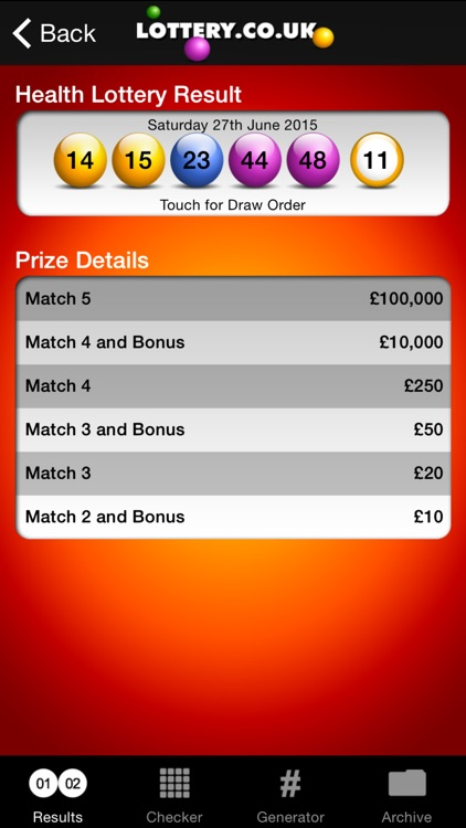 Health Lottery App screenshot-2