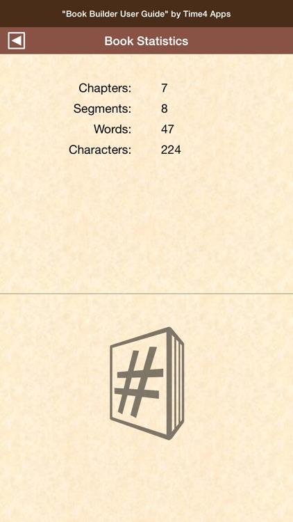 Book Builder - Writer's Development App
