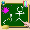 SCM PUBLISHING - blackboard for iPhone and iPod - write, draw and take notes - colored chalk - wallpaper green, white, black or photo artwork