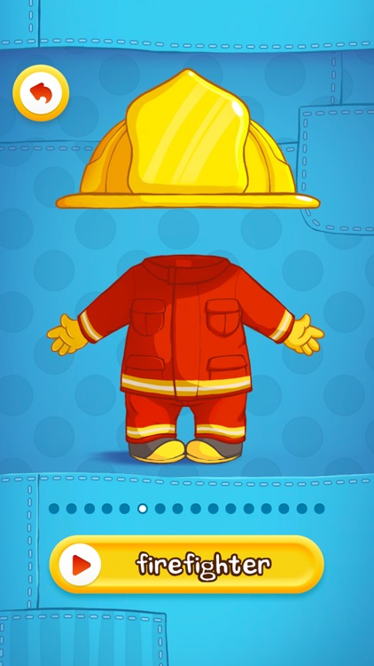 Dress Up : Professions - Occupations puzzle game & Drawing activities for preschool children and babies by Play Toddlers (Full Version for iPhone)