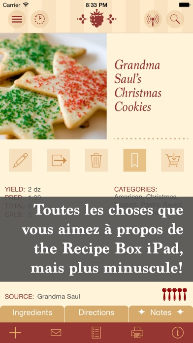 Screenshot for The Recipe Box To Go — Votre poche, vos recettes in Lebanon App Store