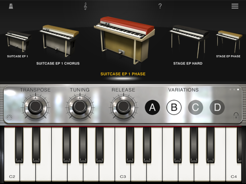 Screenshot #4 pour iLectric Piano for iPad