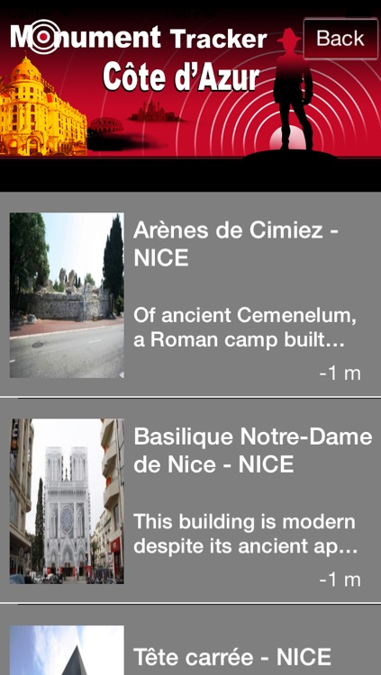 Côte d'Azur Monument Tracker screenshot-2