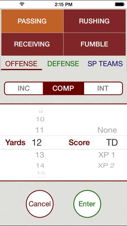 Stat Tap Football screenshot-2