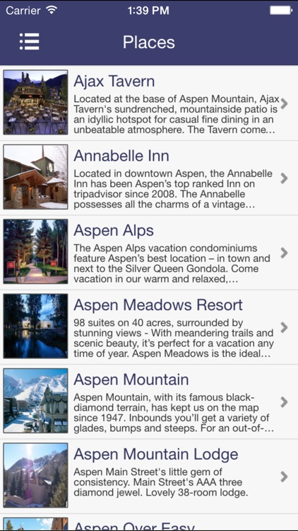 Aspen Places Guide