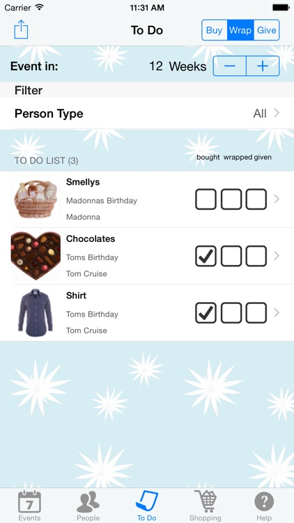 Gift List screenshot-4