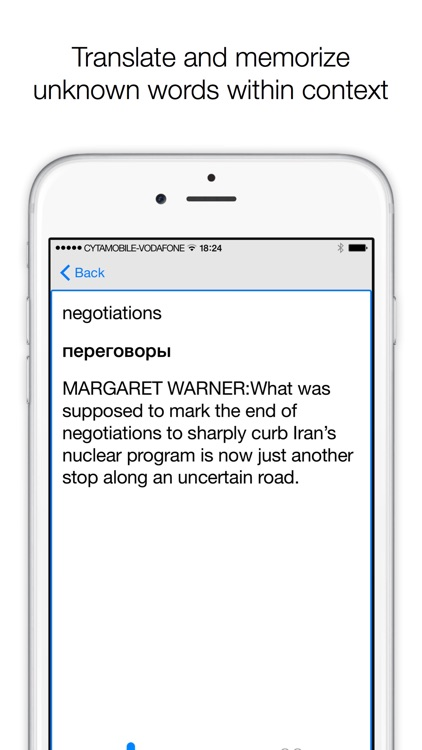 TransPod - podcast player with transcript and translator for learning English as a Second Language screenshot-4