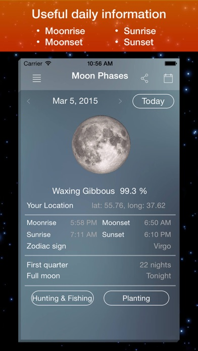 Moon Phase Calendar . screenshot one