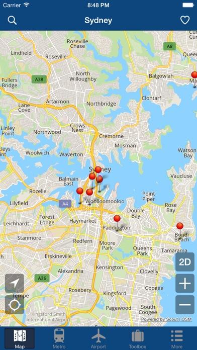 シドニーオフライン地図 - シティメトロエアポートのおすすめ画像1