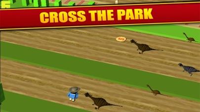 Jurassic Crossy - Dino Crossing Roads screenshot one
