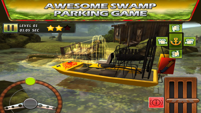 Swamp Boat 3D River Sports Fast Parking Race Game screenshot two