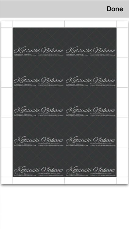 BusinessCardDesigner - Business Card Maker with AirPrint screenshot-4
