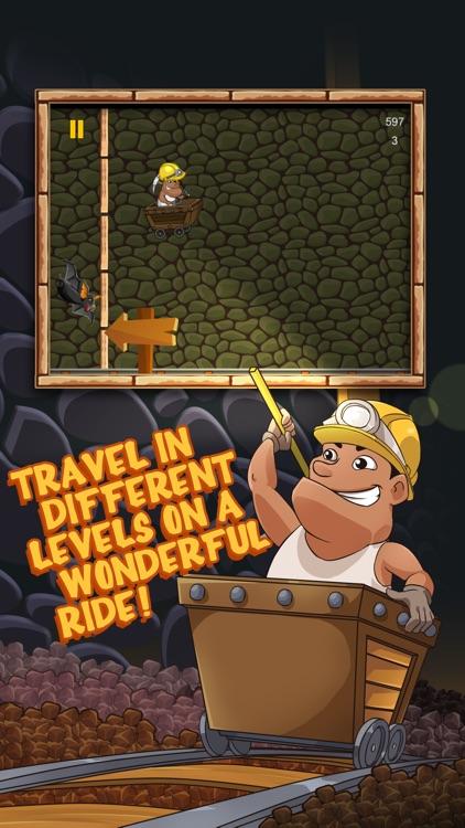 Gold Miner Rail Craft Ride: Pitfall Survival