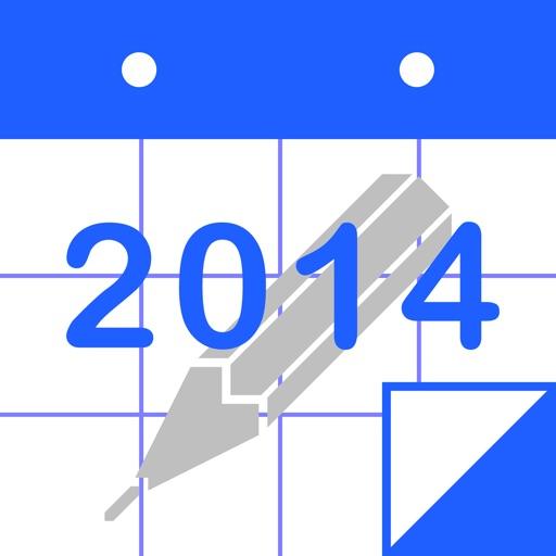 ポリカレンダー 2014 - スケジュールと手書き -