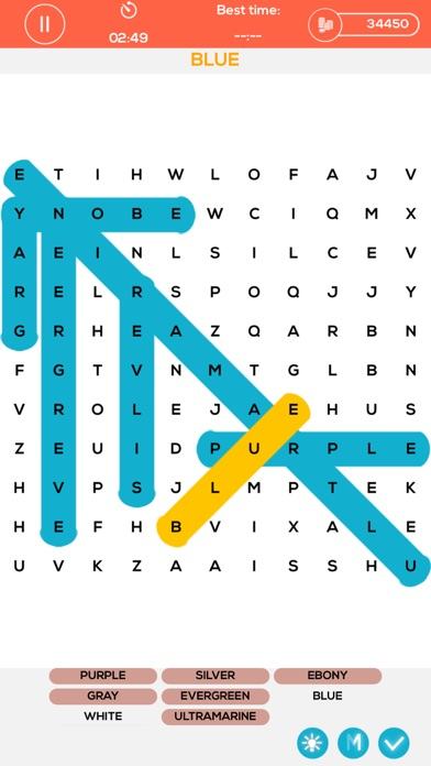 Mystery Word Puzzles - search the hidden words